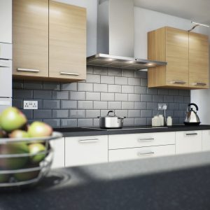 your choice of 32 colours bathrooms and kitchens